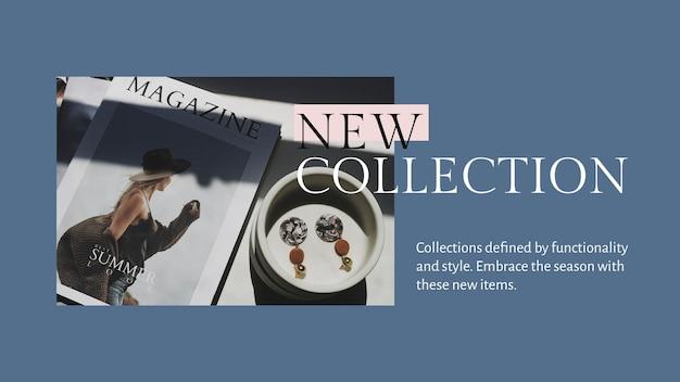 Nieuwe collectie presentatiesjabloon psd voor mode en winkelen