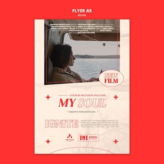 Nieuwe film a5 flyer-sjabloon
