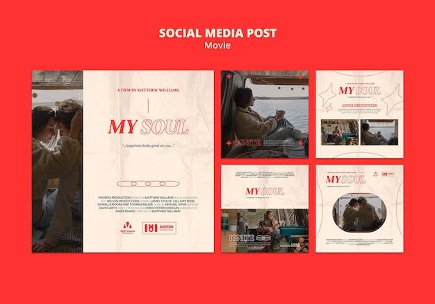 Nieuwe film social media post