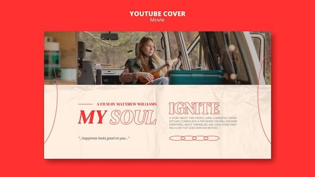 Nieuwe film youtube omslagsjabloon