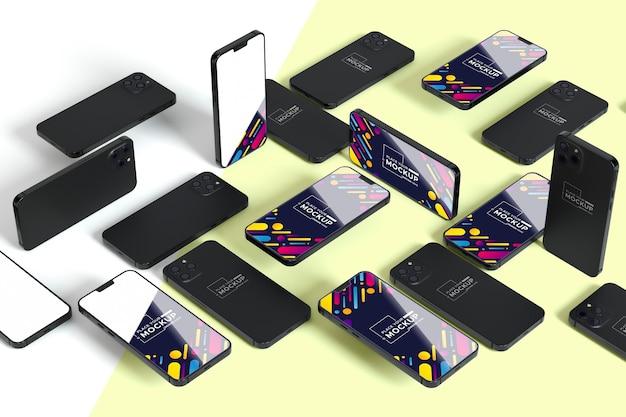 Nieuwe mobiele collectie met mock-up