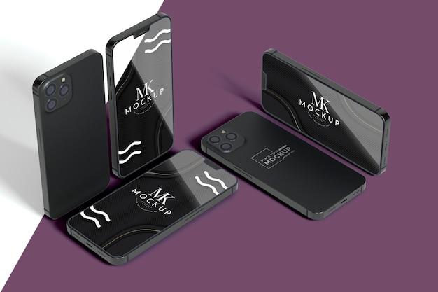 Nieuwe mobiele set met mock-up