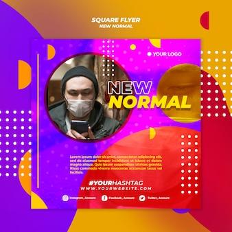 Nieuwe normale flyer