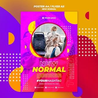 Nieuwe normale poster