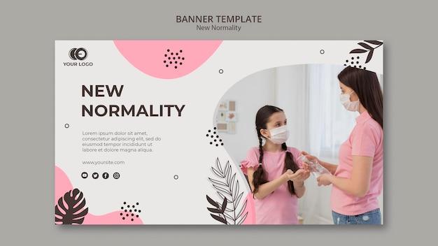 Nieuwe normaliteit banner sjabloonontwerp