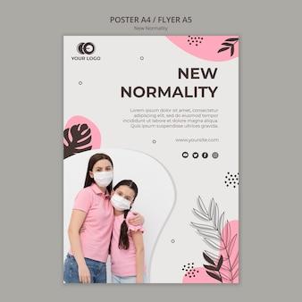 Nieuwe normaliteit poster sjabloon