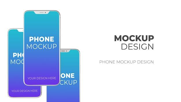 Nieuwe smartphone mockup geïsoleerd