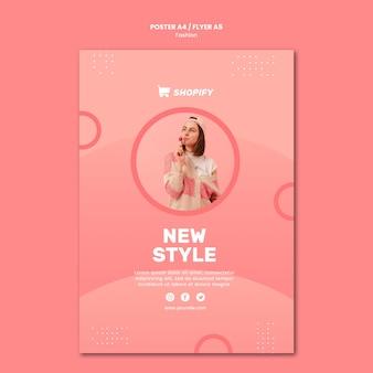 Nieuwe stijl poster sjabloon