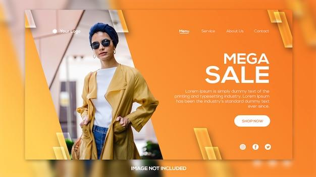 Nieuwe stijl verkoop promotie sjabloon voor spandoek