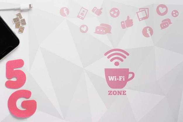 Nieuwe technologie met 5g wifi-verbinding