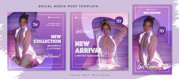 Nieuwe verzameling sociale media postsjabloon