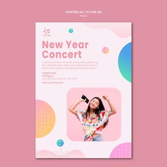Nieuwjaar concert poster sjabloon