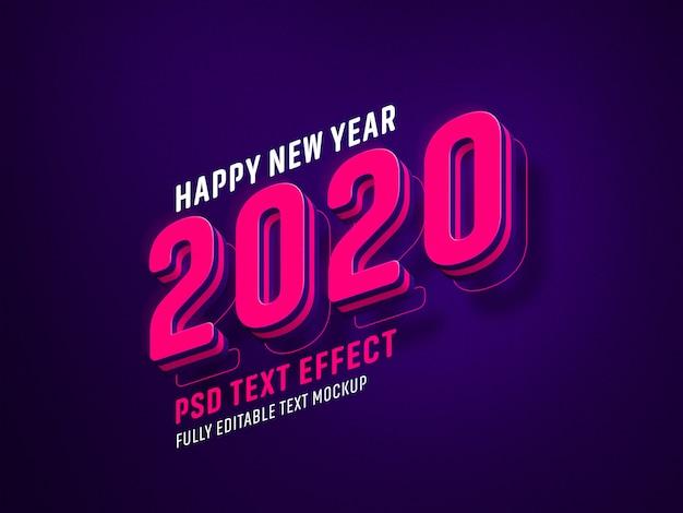 Nieuwjaar teksteffect