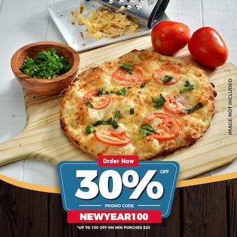 Nieuwjaar voedselkorting biedt sociale media post-sjabloon