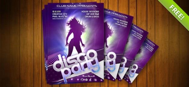 Night club template flyer psd