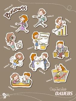 Los niños de dibujos animados personajes de psd