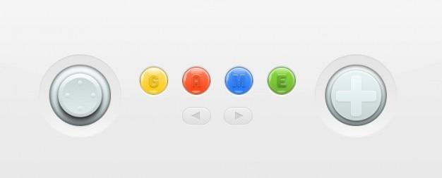 Nintendo console kleurrijke knoppen