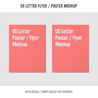 Noi lettera volantino o poster mockup uno accanto all'altro
