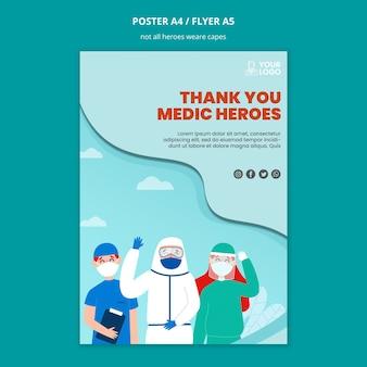 Non tutti gli eroi indossano il design del poster dei mantelli