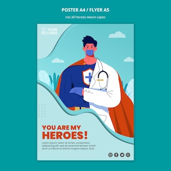Non tutti gli eroi indossano il poster dei mantelli