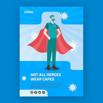 Non tutti gli eroi indossano il tema del poster dei mantelli
