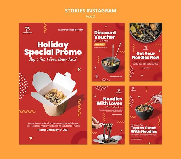 Noodles promo social media-verhalen