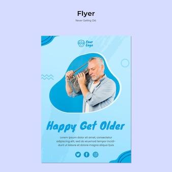 Nooit een oud flyer-sjabloon krijgen