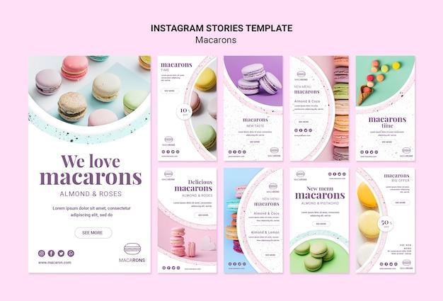 Nos encanta la plantilla de historias de instagram de macarons