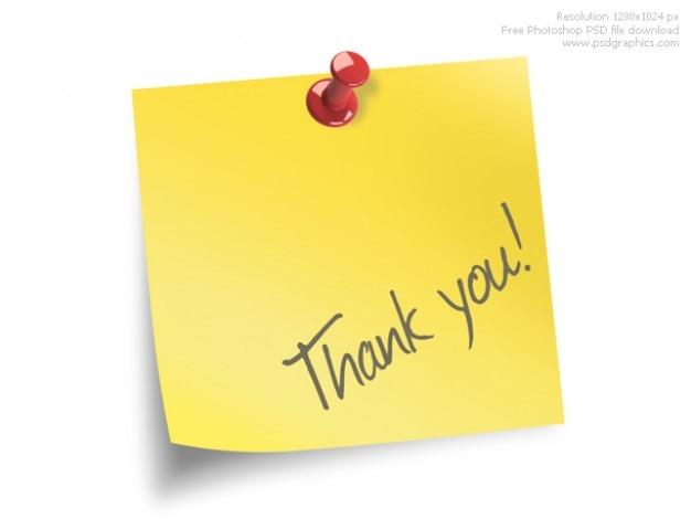 Nota di ringraziamento