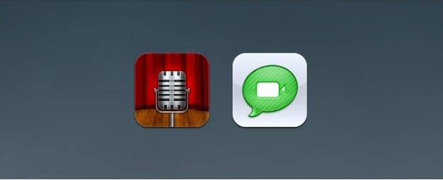 Notas de voz e iconos facetime reemplazo