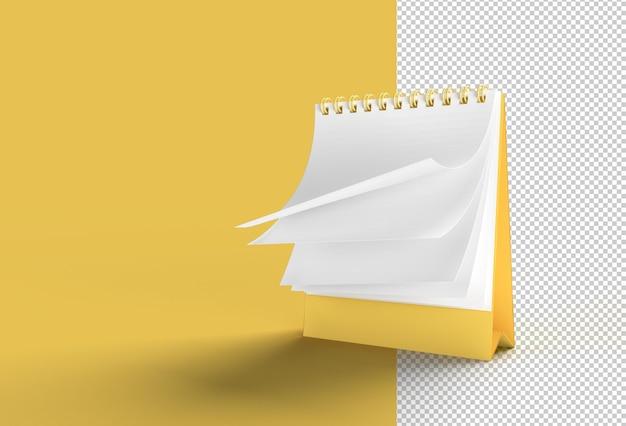 Notebook mock up met schone blanco voor ontwerp en reclame transparant psd-bestand.