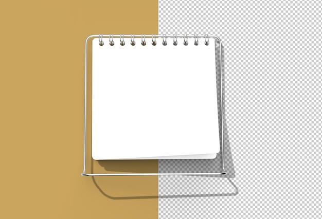 Notebook mock up met schone blanco voor ontwerp reclame transparant psd-bestand.