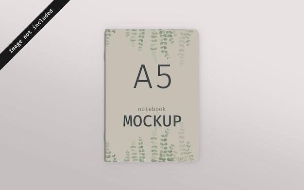 Notebook mockup bovenaanzicht
