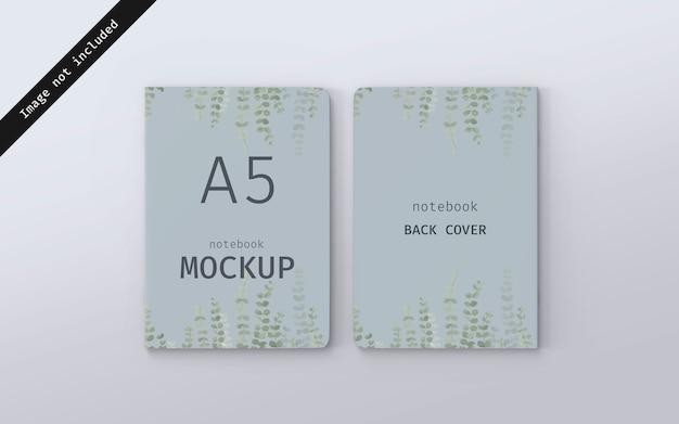 Notebook mockup voor- en achteromslag