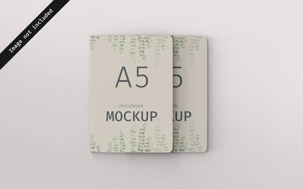 Notebook mockup voorkant gestapeld