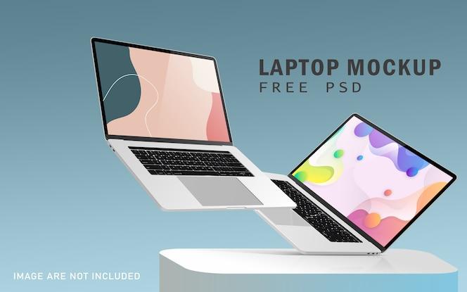 Notebook pro premium mockups met gratis psd met hoge resolutie