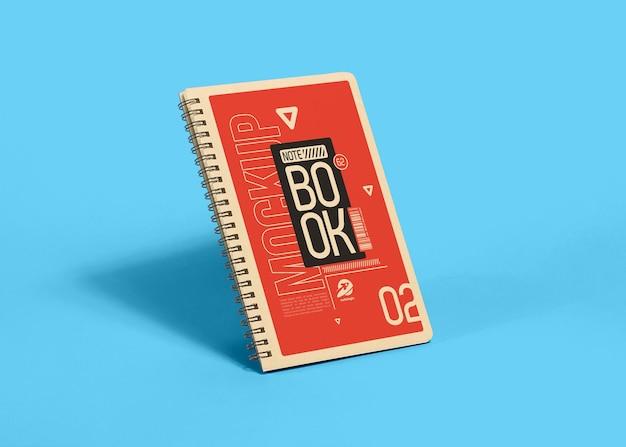 Notebookmodel op blauw