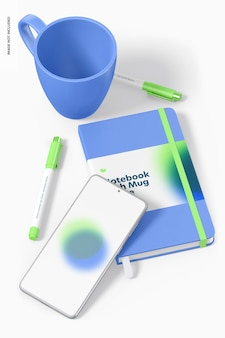 Notitieboekje met mokmodel