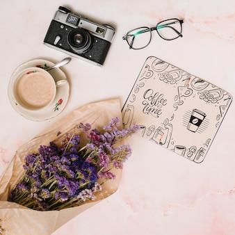 Notitieboekjemodel met de lenteconcept
