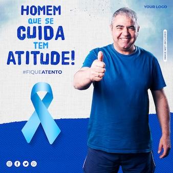 Novembro azul en brasil post instagram concientización sobre el cáncer de próstata