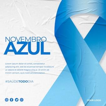 Novembro azul in brazilië post instagram bewustzijn van prostaatkanker