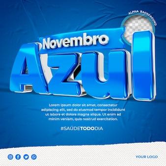 Novembro azul in brazilië post instagram prostaatkanker bewustzijn