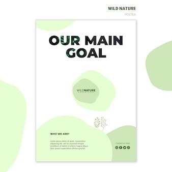 Nuestro objetivo principal plantilla de póster de naturaleza salvaje