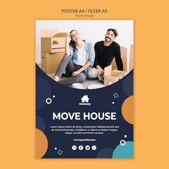 Nueva casa nueva plantilla de póster de inicio