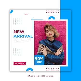Nueva llegada diseño de moda post banner psd