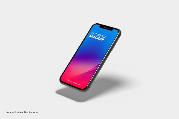 Nueva maqueta de teléfono inteligente flotante renderizado 3d