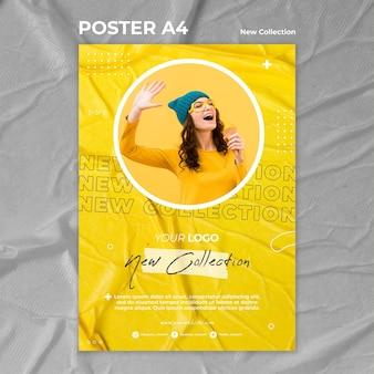 Nueva plantilla de cartel de concepto de colección