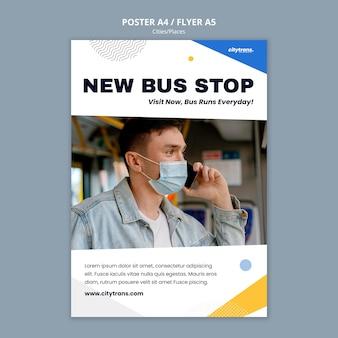 Nueva plantilla de cartel de parada de autobús