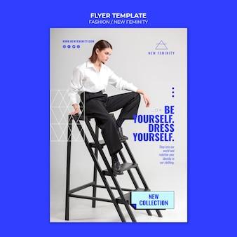 Nueva plantilla de estampado de moda de feminidad