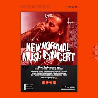 Nueva plantilla de impresión de concierto de música normal